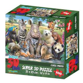 Howard Robinson Exotic Wildlife100 Piece Super 3D Puzzle