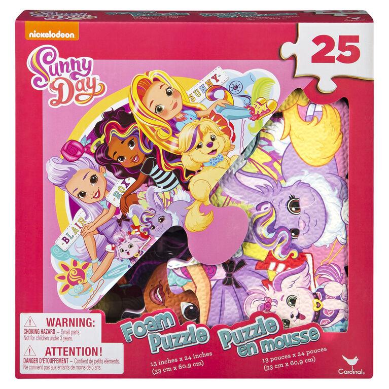 Sunny Day - Puzzle en mousse de 25 pièces