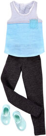 Barbie Ken Gray and Blue Tank Top and Black Sweat Pants Fashion Pack - Original
