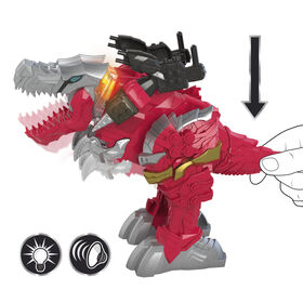 Power Rangers Battle Attackers Dino Fury T-Rex Champion Zord Electronic Action Figure