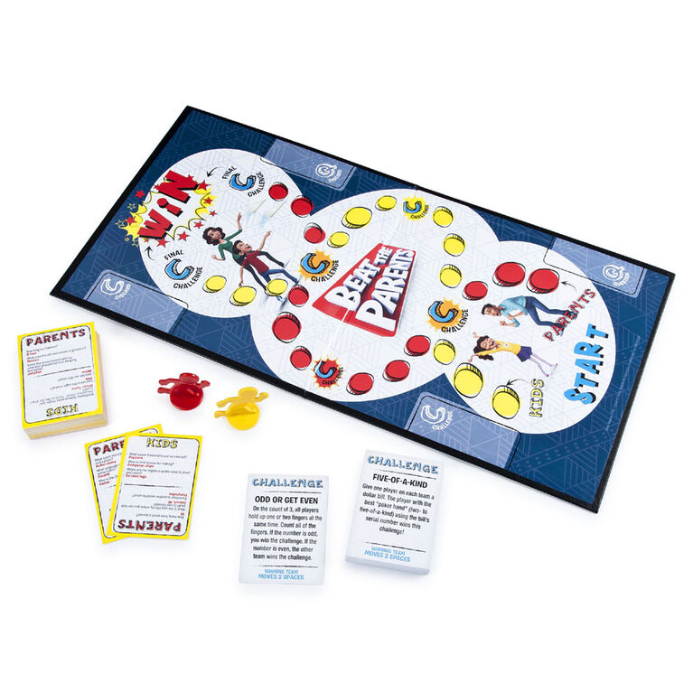 Beat the Parents, Family Board Game of Kids vs. Parents with Wacky Challenges (Edition May Vary)