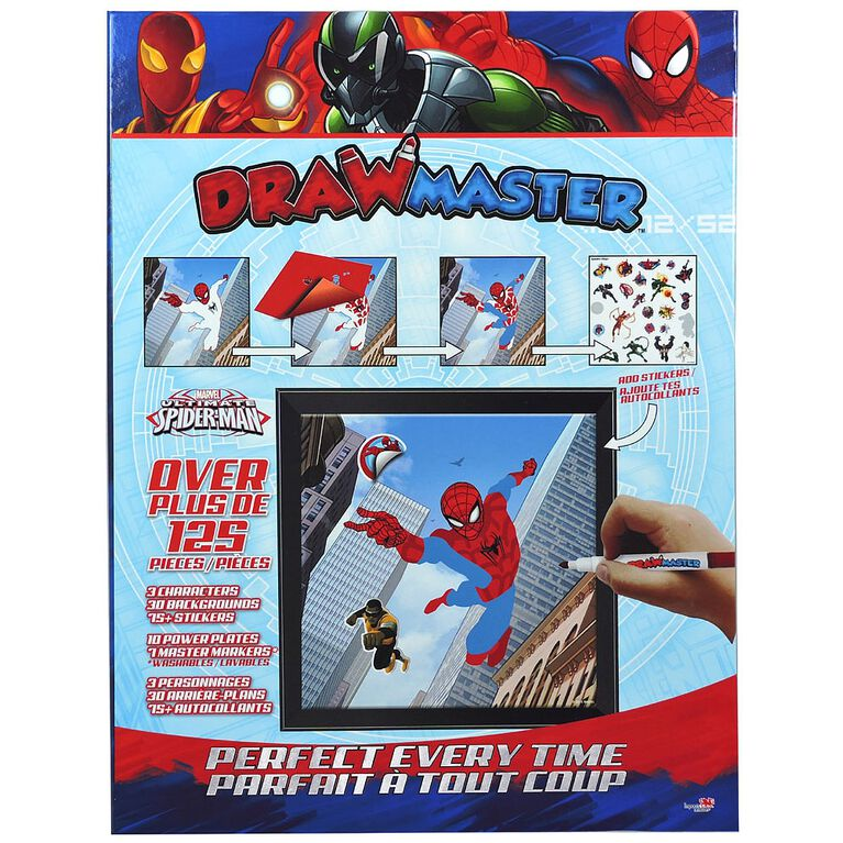 Drawmaster Marvel Avengers Exclusive Drawing Kit - Spider-Man, Vulture, Iron Spider (Bilingual)
