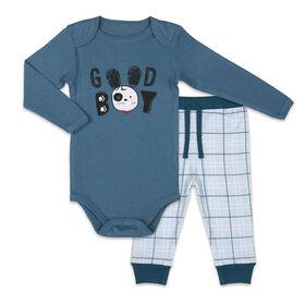 Koala Baby Bodysuit and Pants Set, Good Boy - 12 Months
