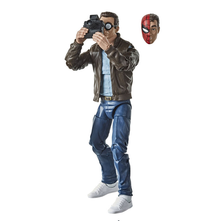 Hasbro Marvel Legends Series Spider-Man: 6-inch Collectible Peter Parker Action Figure Toy Retro Collection