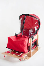 JAB - Cushion with windshield for baby sled