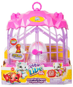 Little Live Pets - Cage de cristal du Dragon surprise.