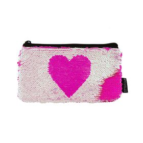Style Lab Magic Sequin Heart Pouch