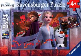 Ravensburger - Disney Frozen -Vers des contrées glacées casse-têtes 2 x 24pc