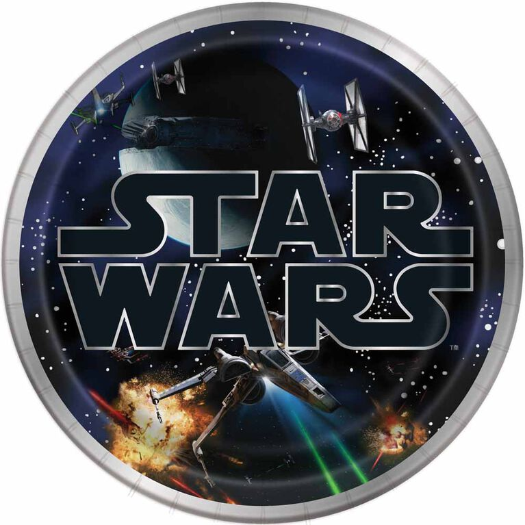 "Star Wars Classic  9""  Plates, 8 pieces"