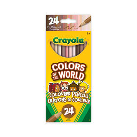 Crayola Colors of the World Skin Tone Coloured Pencils, 24 Count