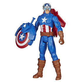 Marvel Spider-Man Titan Hero Series Blast Gear - Figurine Captain America