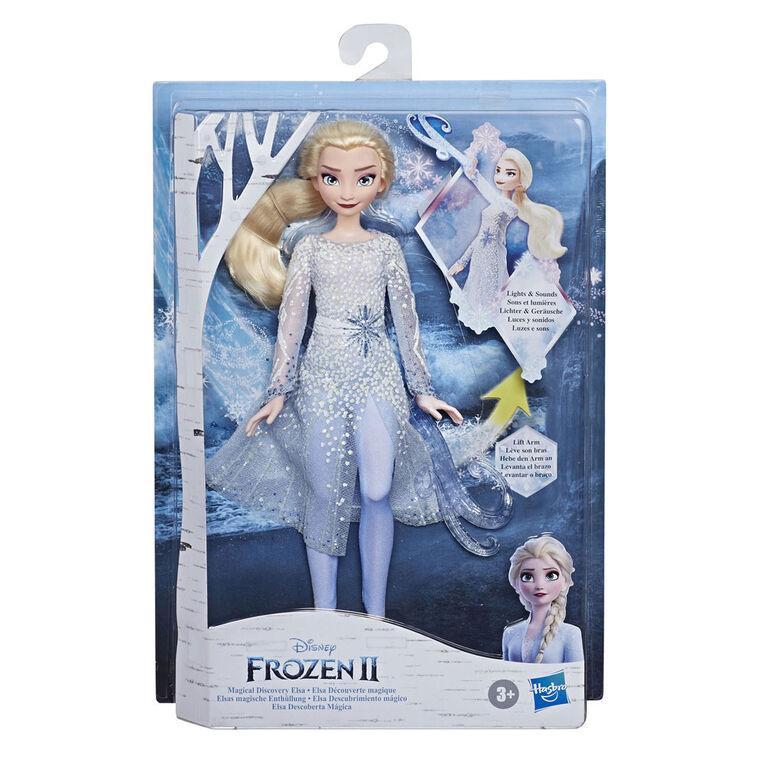 La Reine des neiges, poupée Elsa Découverte magique avec sons et lumières
