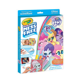 Crayola Color Wonder Mess-Free Glitter Paper & Markers Kit, My Little Pony