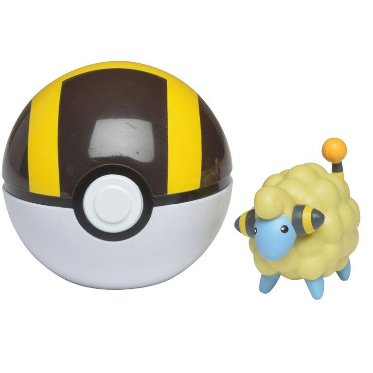 Pokémon Clip 'N' Go - Wattouat (Mareep) et ballon ultra - Édition anglaise