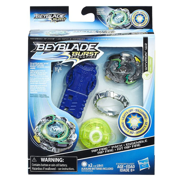 Beyblade Burst Evolution Rip Fire Starter Pack Wyvron W2