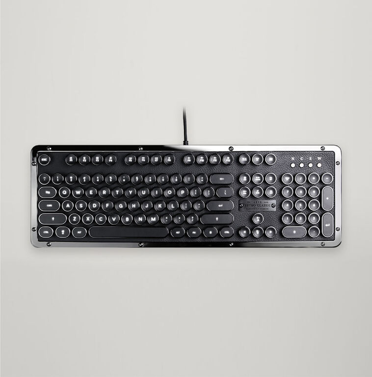 USB Retro Classic Mechanical Keyboard  (ONYX)