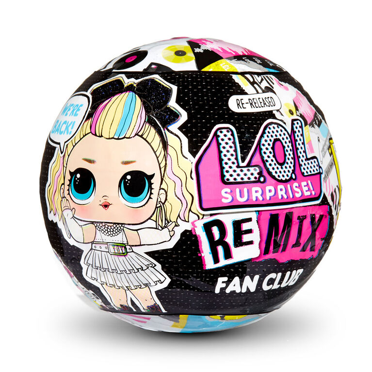 L.O.L. Surprise! Remix Fan Club - Re-released Doll with 7 Surprises