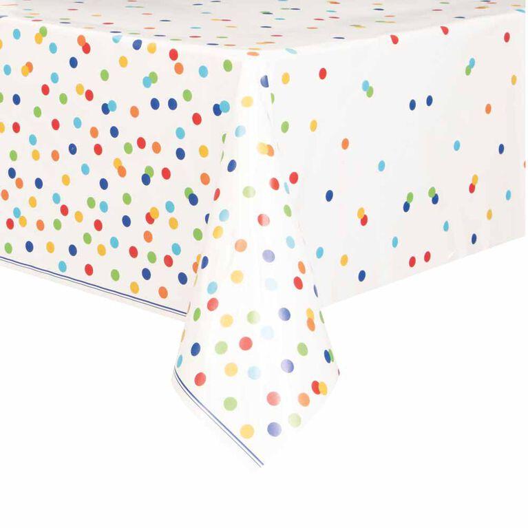"""Rainbow Polka Dots Nappe en Plastique 54"""" x 84"""""""