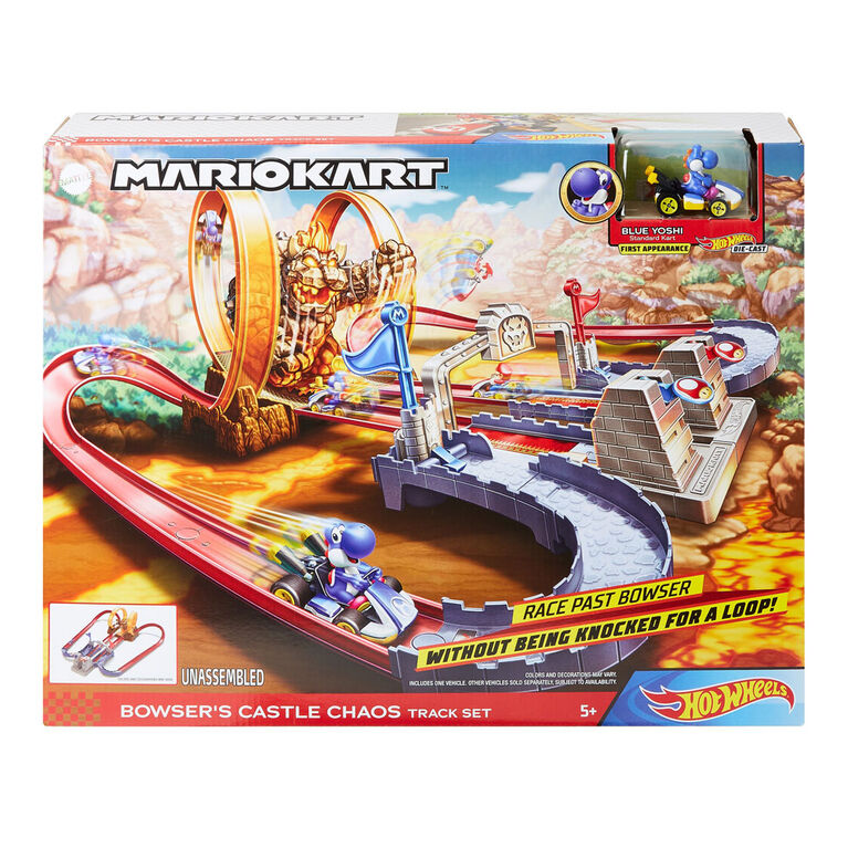 Hot Wheels Mariokart Bowsers Castle Chaos Playset
