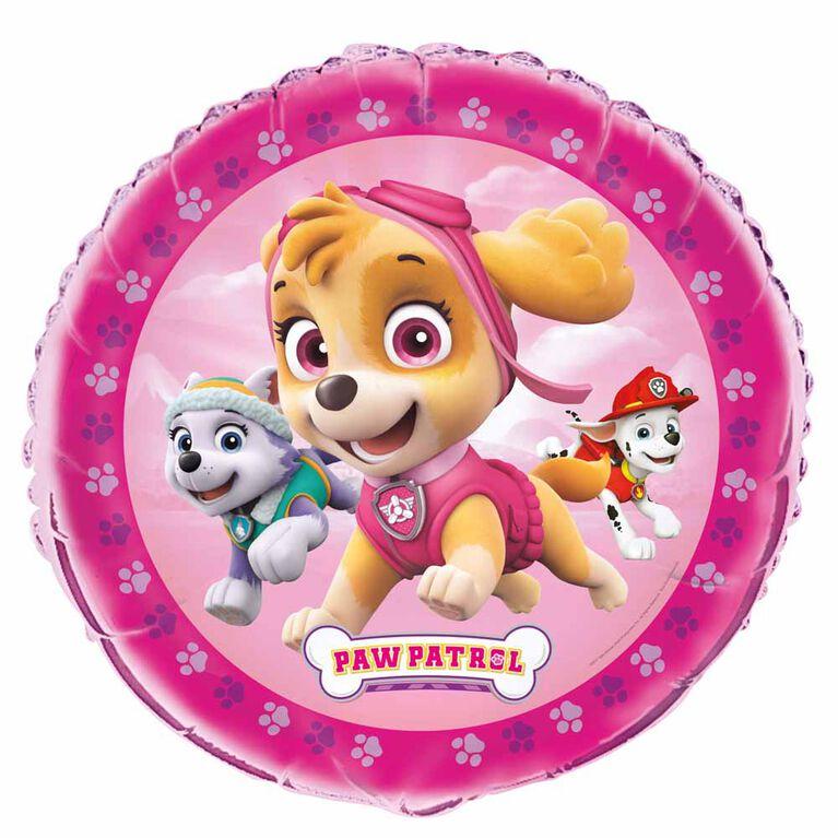 "Ballon aluminium rond, 18 "" - Paw Patrol Girl"