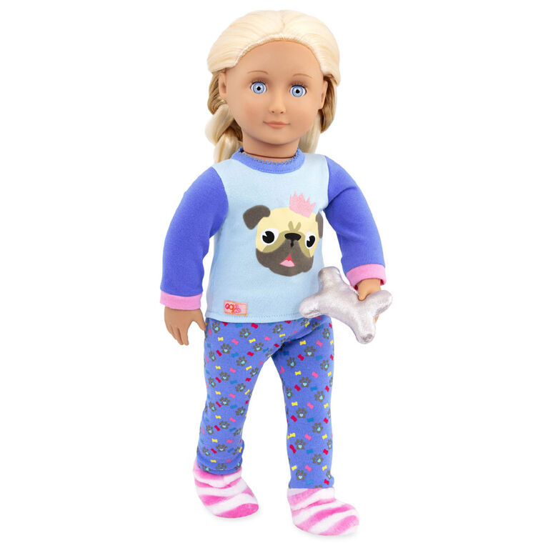 Our Generation, Pug-Jama Party, Dog Pajama Outfit for 18-inch Dolls
