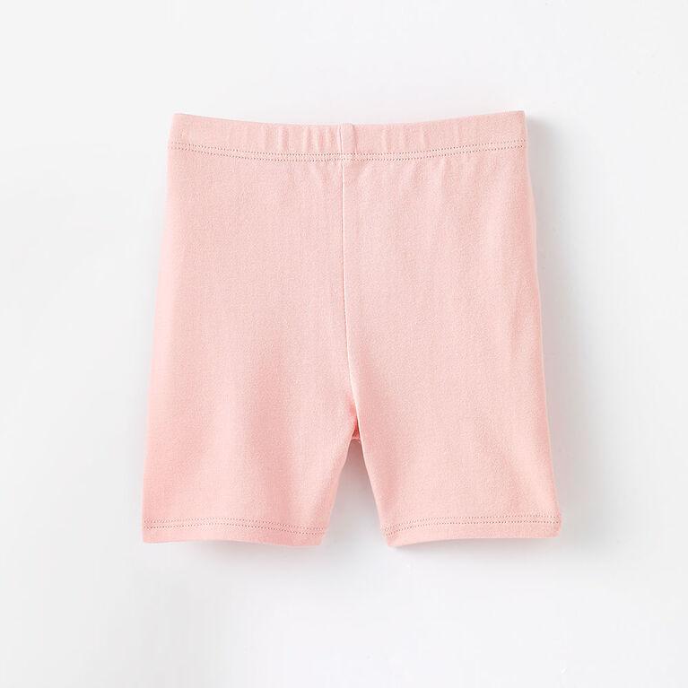 tumble short, 3-6m - light pink