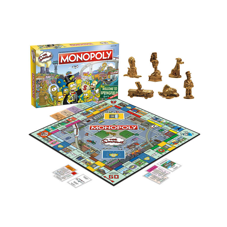 MONOPOLY: The Simpsons Jeu De Plateau - Édition anglaise