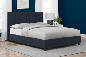 DHP Emily Upholstered Bed, Full  - Navy