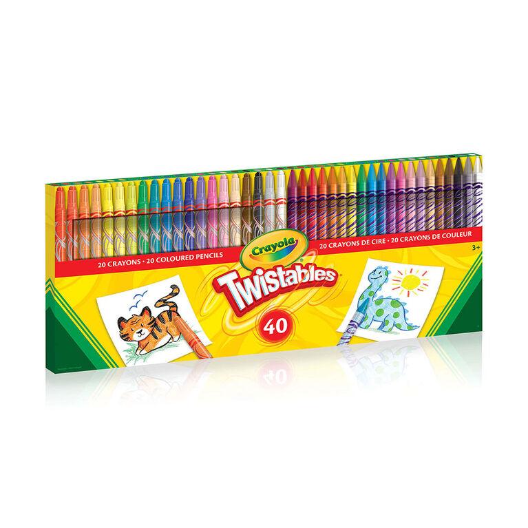Crayola - 40 ct Twistables Crayons & Coloured Pencils