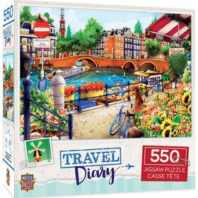Travel Diary Amsterdam - 550 Piece Jigsaw Puzzle