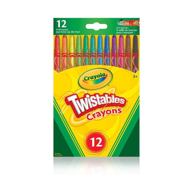 12 crayons de cire Crayola TwistablesMC