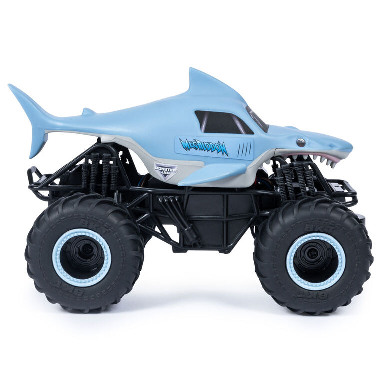 Monster Jam, Official Megalodon Remote Control Monster Truck, 1:24 Scale, 2.4 GHz