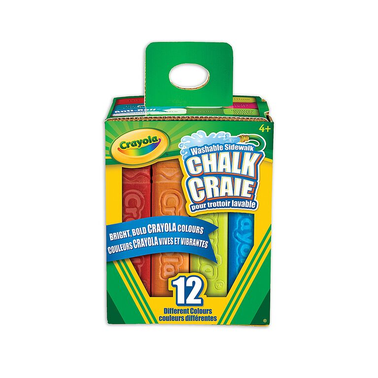 Crayola Washable Sidewalk Chalk, 12 Ct