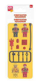 Block Tech - Firefighter Squad 4 Minifigs (Mini Figures) and Accessories