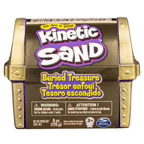 Kinetic Sand, Buried Treasure Playset with 6oz of Kinetic Sand and Surprise Hidden Tool (Style May Vary)
