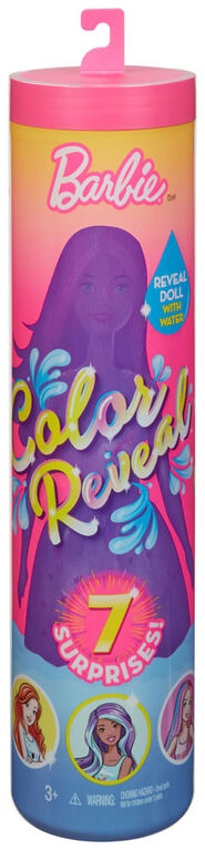 Barbie Color Reveal Doll with 7 Surprises - Styles May Vary - English Edition