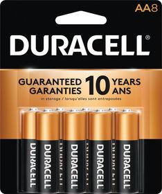Piles Duracell coppertop Alcalines AA - 8 unités