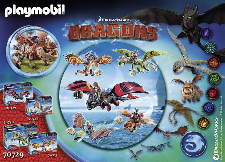 Playmobil - Dragon Racing: Varek et Bouledogre