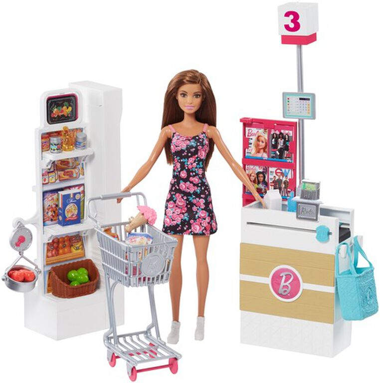 Barbie Supermarket Playset and Doll