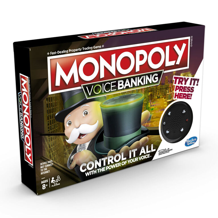 Monopoly Voice Banking Electronic Family Board Game - English Edition - styles may vary