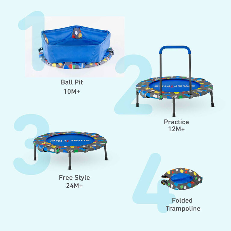 smarTrike Activity Center 3-in-1 Trampoline and Ball Pit – Toys R Us  Exclusive