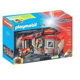 Playmobil - Caserne de Pompiers Transportable