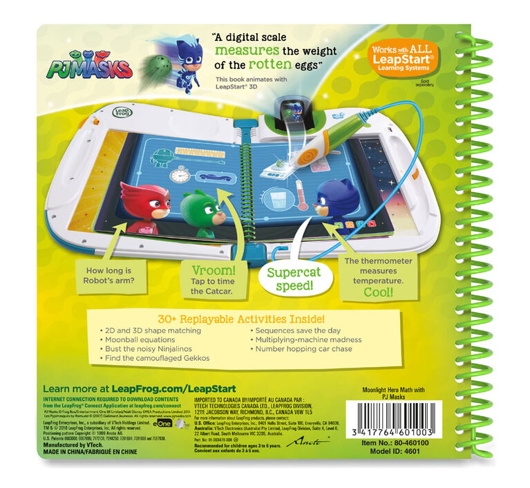 LeapFrog LeapStart 3D Moonlight Hero Math with PJ Masks Activity Book - English Edition