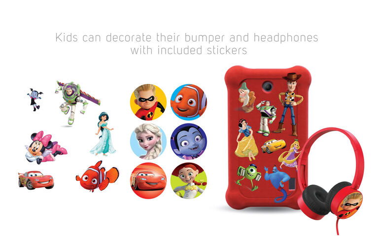 "Disney airBook 7"" Tablet Tablet Bundle Propulsé par Android - Rose"