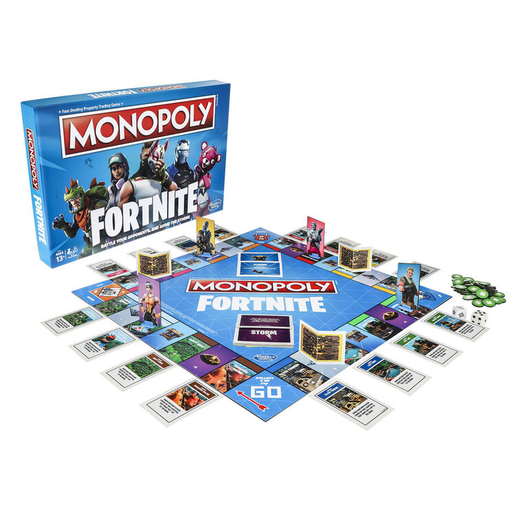 Hasbro Gaming Monopoly: Fortnite Edition Board Game - English Edition