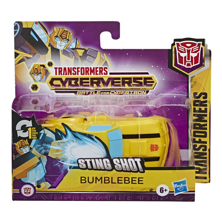 Transformers Cyberverse Action Attackers - Figurine Bumblebee à conversion 1 étape