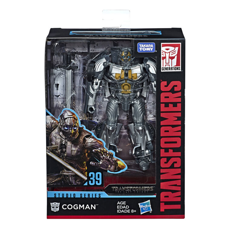Transformers Studio Series 39 Deluxe Class Transformers: The Last Knight Movie Cogman Action Figure