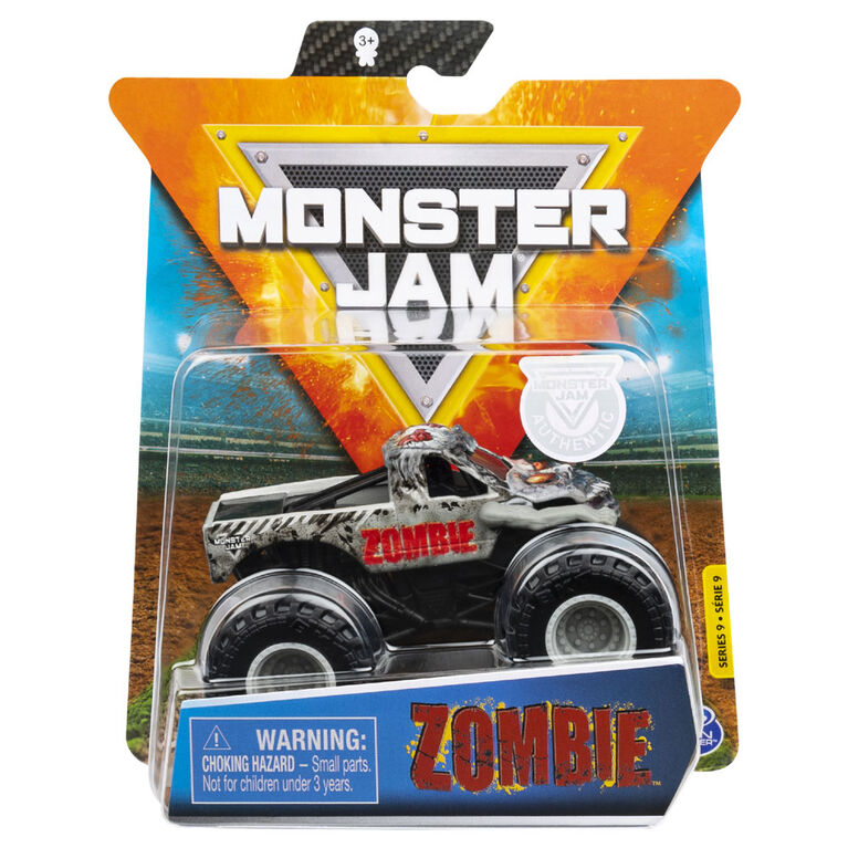 Monster Jam, Official Zombie Monster Truck, Die-Cast Vehicle, Over Cast Series, 1:64 Scale