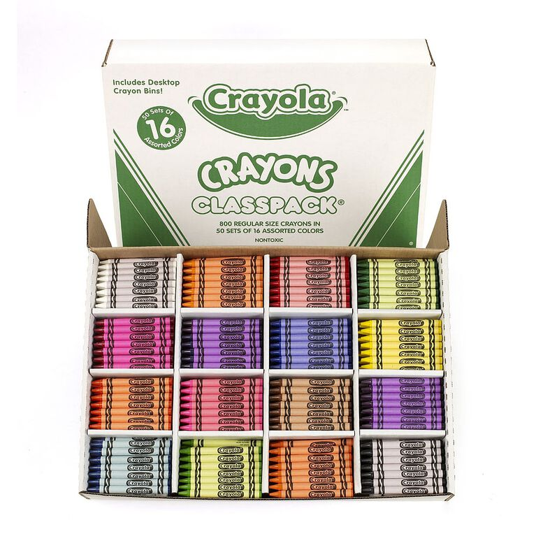 Crayola Class Pack Crayons, 16 Colours,800 Ct - English Edition