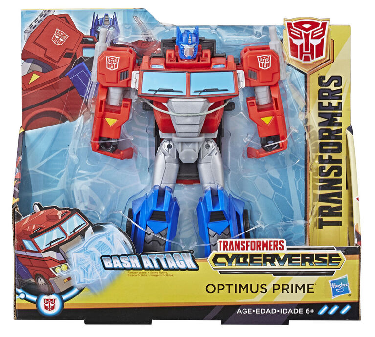 Transformers Cyberverse Action Attackers: Ultra Class Optimus Prime Action Figure Toy